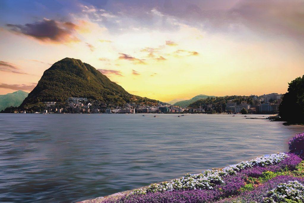 Lugano Tessin See